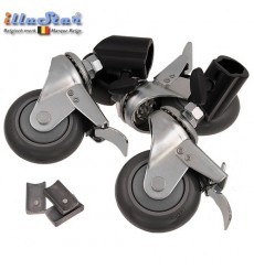 3W22 - Set with 3 casters (lockable) for light stand - tube ø22cm
