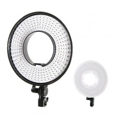 Bi-Color LED Ringlamp Dimbaar DVR-300DVC op 230V - Falcon Eyes